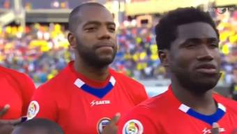 Ex-FCA-Verteidiger Kim Jaggy im Spiel von Haiti gegen das grosse Brasilien