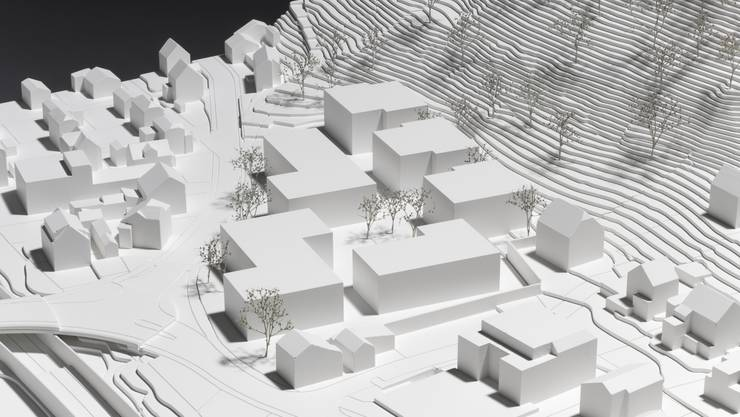 Modellbau über die geplanten 98 Meitwohnungen.