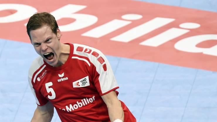 Sorgt wieder für Freude: Manuel Liniger, Captain der Schweizer Handball-Nationalmannschaft