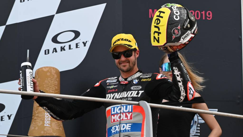 Stand im letzten Jahr beim GP von Italien in Mugello als Dritter auf dem Podest: Tom Lüthi