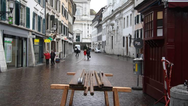 Am Montag fiel der Monatsmarkt in Solothurn inoffiziell aus.