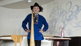 Felix Mühleisen hat sich etwas Spezielles überlegt: Er liess eigens einen Banntag nachstellen, um bei den Gästen zu punkten.