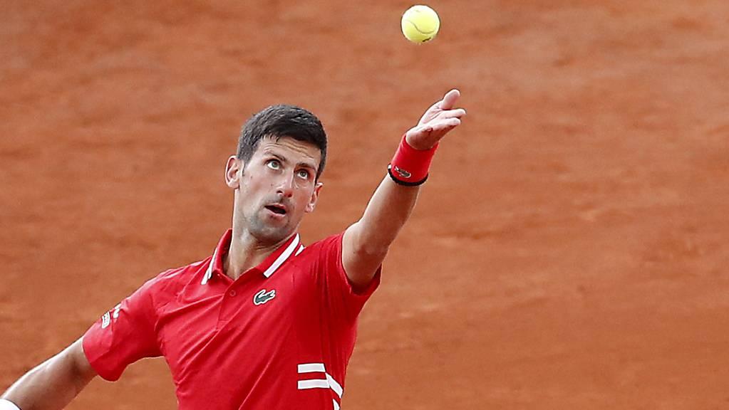 Auch vom starken Sinner nicht wirklich gefordert: Novak Djokovic in Monte Carlo