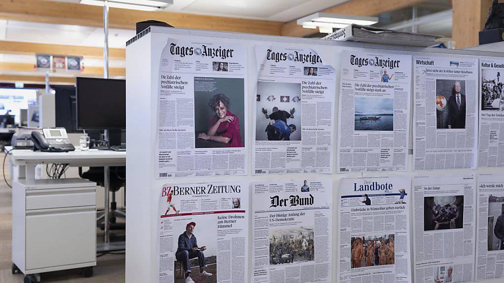 Beim Medienkonzern Tamedia bleibt das Geschäft mit gedruckten publizistischen Zeitungen und Zeitschriften unter Druck. (Archiv)
