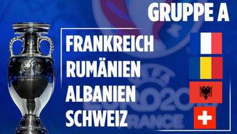 In Gruppe A treffen Frankreich, Rumänien, Albanien und die Schweiz aufeinander.