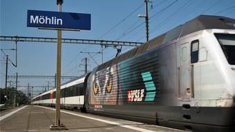 Zwischen Möhlin und Pratteln war der Bahnbetrieb unterbrochen. (Archivbild)