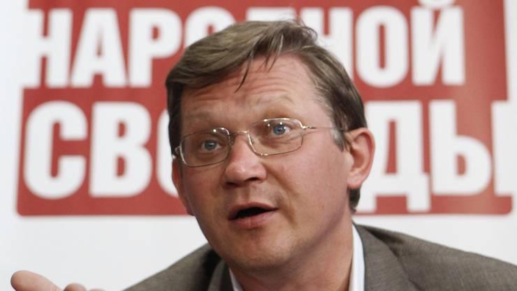 Der russische Oppositionspolitiker Wladimir Ryschkow