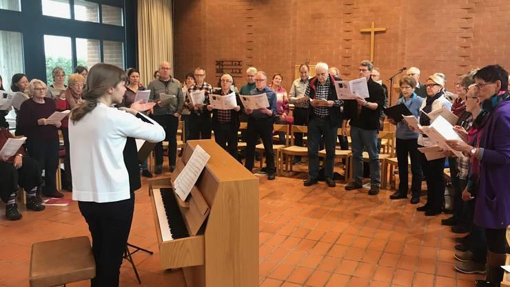 Der Chor probt die Schubert-Messe