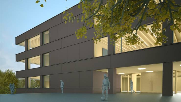 So sollte der Neubau des Primarschulhauses Kleine Kreuzzelg aussehen. Bild: zvg