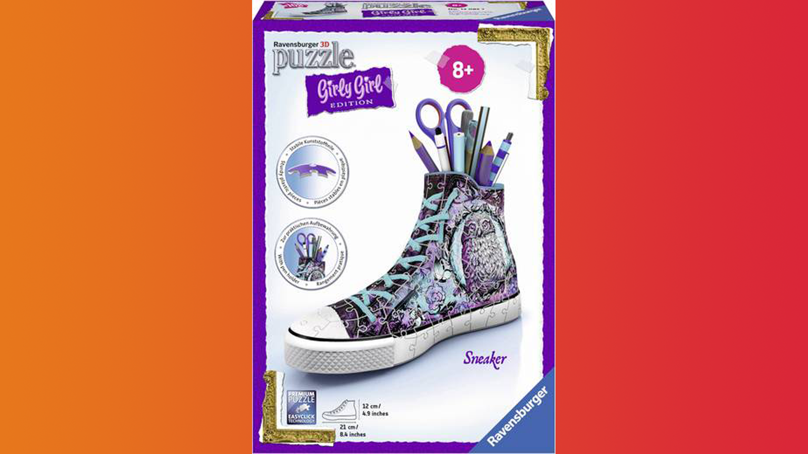 Wunsch-Nr. 140, Julia, 9 Jahre, Ravensburger 3D Puzzle Sneaker - Girly Girl Edition - Animal Trend, Franz Carl Weber, CHF 26.95