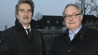 Rudolf Erzer mit dem neuen Präsidenten Samuel Schmid.