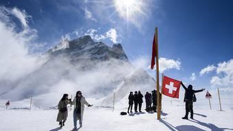Im Januar und Februar besuchten 74'000 Gäste das Jungfraujoch.