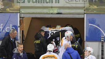 Gleich drei Spieler, unter ihnen Damien Brunner, verletzten sich in Davos