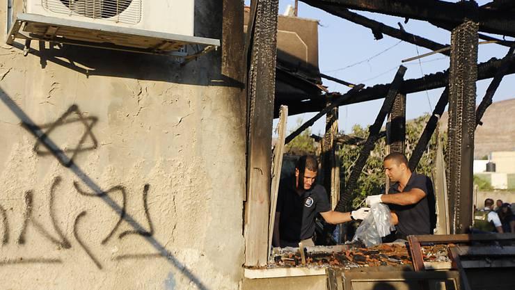Rückschlag für die israelischen Ermittler nach dem Brandanschlag in Duma von Ende Juli: Alle Verdächtigen befinden sich wieder auf freiem Fuss. (Archiv)