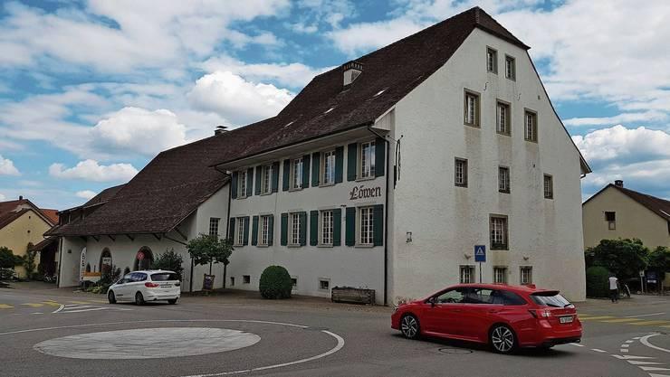 Der «Löwen» beim Dorfplatz in Erlinsbach SO wurde 1350 erstmals schriftlich erwähnt und ist heute denkmalgeschützt.