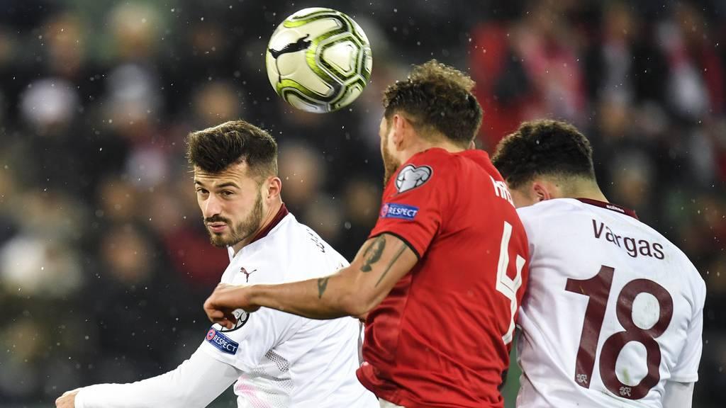 Der St.Galler Cedric Itten bringt die Schweiz in Führung 1:0