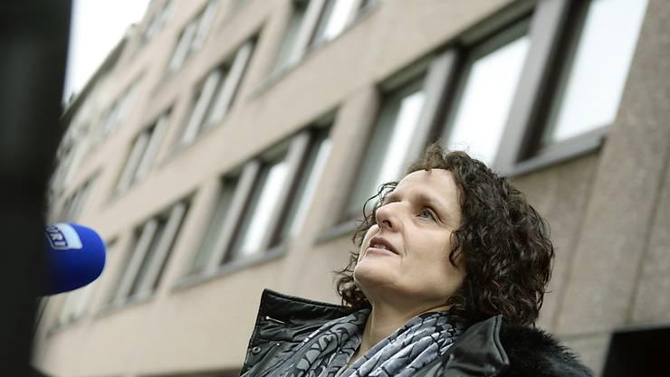 Iris Ritzmann im Dezember 2014 vor dem Bezirksgericht Zürich.