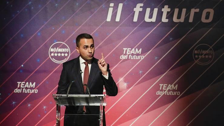 Luigi Di Maio tritt als Politikchef der Fünf Sterne zurück.