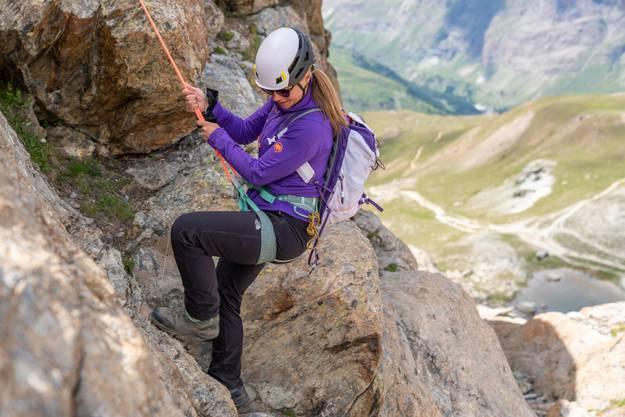 Die Solothurnerin am Klettern