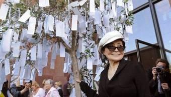 An der Laufenburger Kulturnacht wird einer von Yoko Onos Wunschbäumen aufgestellt. zvg
