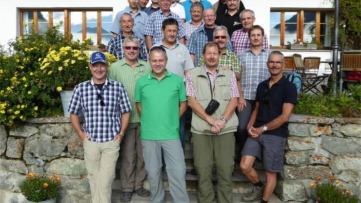 Die Männerturner des MTV Untersiggenthal im Val Bever