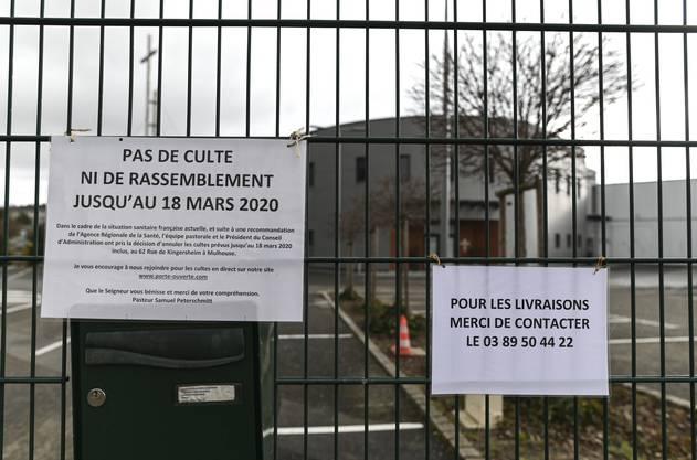 Hauptgrund für die Ausbreitung des Virus' im Südelsass dürfte das Treffen von Mitte Februar dieser evangelischen Freikirche in Mulhouse sein, an dem über 2'000 Personen teilgenommen haben.