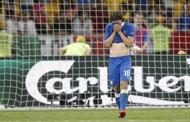 Riccardo Montolivo nach dem Match gegen England, den die Italiener im Penalty-Krimi gewannen. Montolivo hatte seinen Penalty allerdings verschossen.