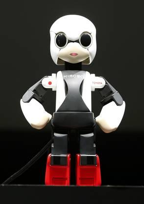 Der Roboter Kirobo, de ein bisschen wie ein Mensch aussieht, soll dem japanischen Astornauten Gesellschaft leisten.