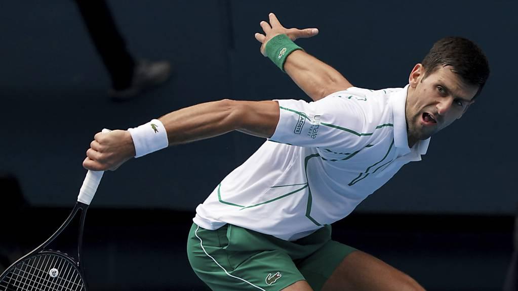 Novak Djokovic blieb gegen Diego Schwartzman ungefährdet und trifft nun auf Milos Raonic