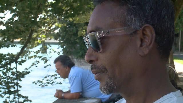 Augenzeuge Sheak Bulbul war gerade am Fischen, als der Mann in die Aare stürzte – der Vorfall geht ihm nahe, wie er bei Tele M1 berichtet.