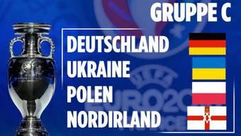 In Gruppe C treffen Deutschland, die Ukraine, Polen und Nordirland aufeinander.