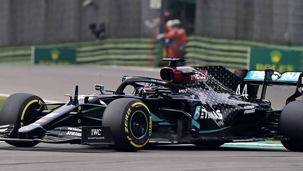 Lewis Hamilton feiert in Imola seinen 93. GP-Sieg in der Formel 1.