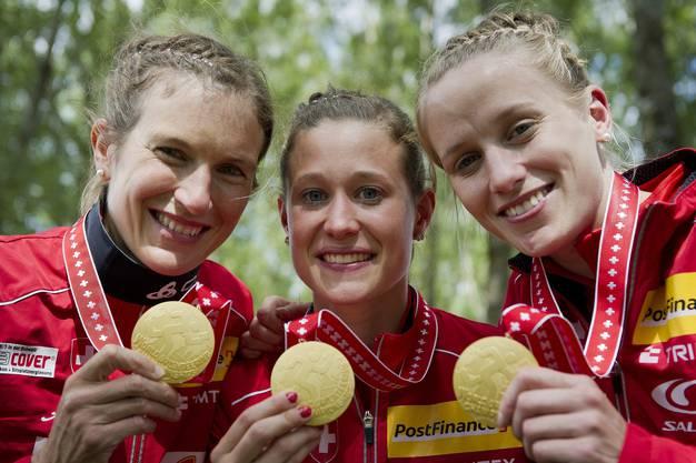 Bei den Frauen gebührt die Ehre der Orientierungsläuferin Ines Brodmann (Rechts).