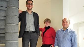 Das Team der Spitex Heitersberg um Präsident Lukas Fus (l.), Claudia Wippl, Leiterin Pflege, und Geschäftsführer Bircan Gültekin will künftig seine Dienstleistungen ausbauen.