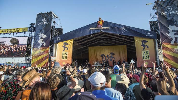 Ein Paradies für Musikfans: Das New Orleans Jazz and Heritage Festival.