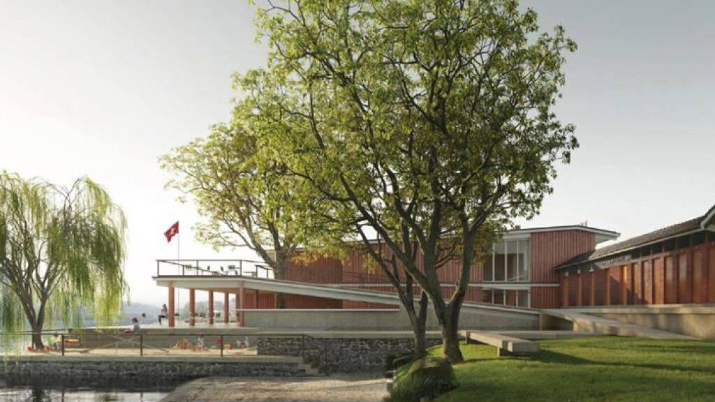 Ansicht des geplanten Lido-Hallenbades in Weggis LU.