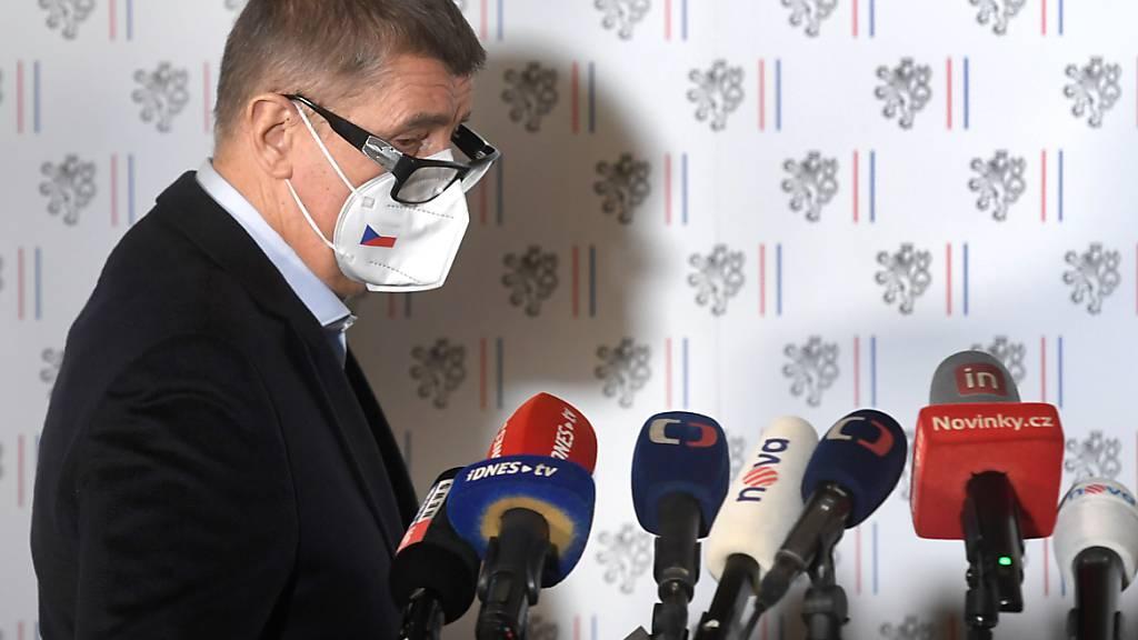 FILED - Der tschechische Ministerpr‰sident Andrej Babis bei einer Pressekonferenz. Photo: ÿÌhov· Michaela/CTK/dpa