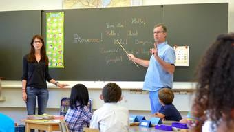 In der Unterstufe (Kindergarten und Primarschule) liegt der Frauenanteil bei der Aargauer Volksschule bei 89 Prozent. (Symbolbild)