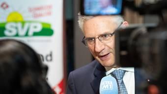 Nationalrat Andreas Glarner nach seiner Wahl zum Präsidenten der Aargauer SVP am 15. Januar 2020 in Lupfig.