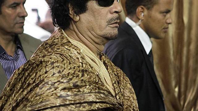 Libyens Staatschef Muammar Gaddafi