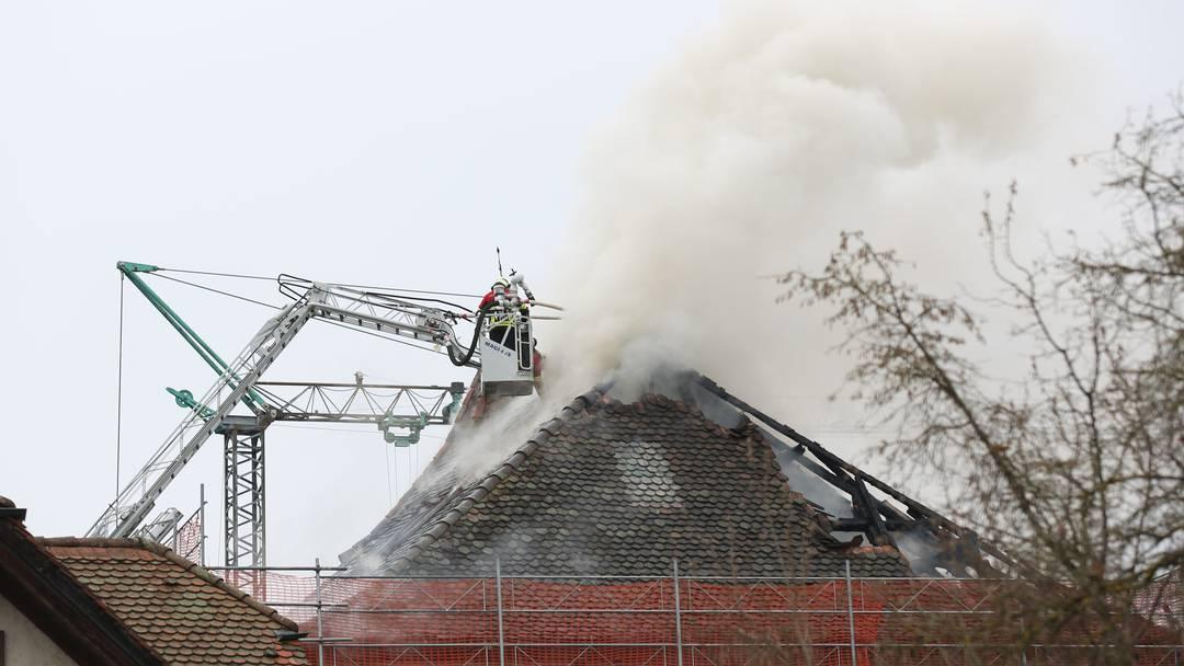Brand in der Unteren Mühle  Seon