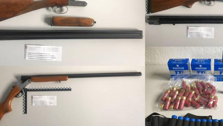 Im Auto eines Ehepaars mit Wohnort Genf wurden diverse Waffen und Munition gefunden.