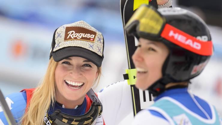 Lara Gut und Wendy Holdener gehören zu den Medaillenanwärterinnen in der WM-Kombination (Archivbild)
