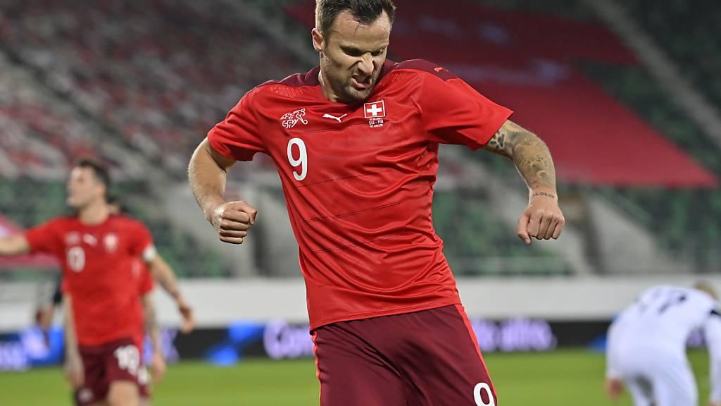 Haris Seferovic schoss kurz vor dem Ende den Schweizer Siegtreffer