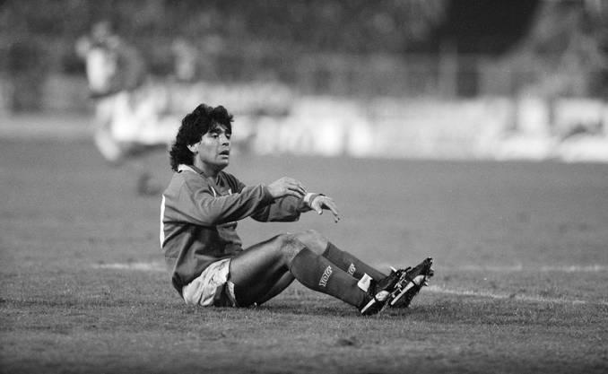 Diego Armando Maradona traf 1989 im Uefa Cup mit der SSC Napoli auf den FC Wettingen.