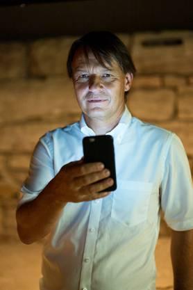 Kantonsarchäologe Guido Lassau erklärt die App.