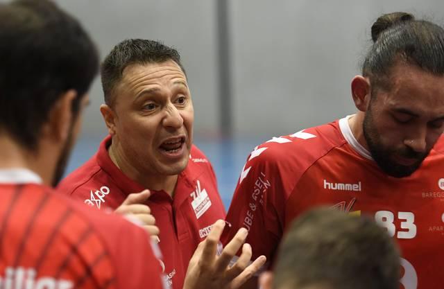 TVE-Trainer Zoltan Majeri coachte seine Mannschaft zum Sieg.