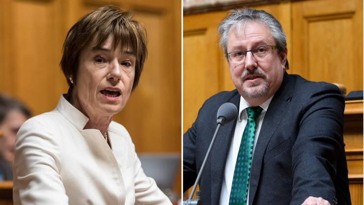Ruth Humbel und Beat Flach – die Vielredner im Parlament.