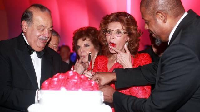 Geburtstagskind Sophia Loren in Mexiko (Key)