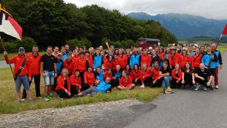 Der Turnverein Mümliswil am kantonalen Turnfest 2016 in Thun. Danach begannen die Männer gemeinsam zu trainieren.